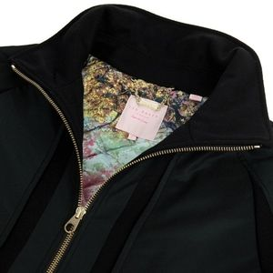 Ted Baker Black Zip Up Coat with Pockets